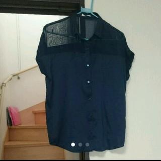 ジーユー(GU)のGU シースルー トップス シャツ ブラウス(シャツ/ブラウス(半袖/袖なし))