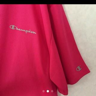 チャンピオン(Champion)のchampionTシャツビッグサイズ5Lショッキングピンク(Tシャツ/カットソー(半袖/袖なし))