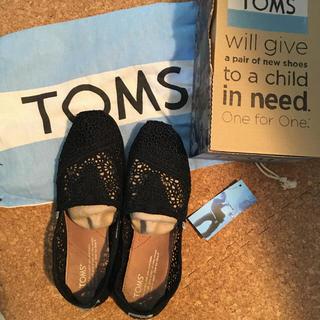 トムズ(TOMS)の専用 TOMS レースシューズブラック23.5㎝(スニーカー)