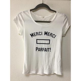 ジーユー(GU)のGU Tシャツ サイズM  白 シンプル(Tシャツ(半袖/袖なし))