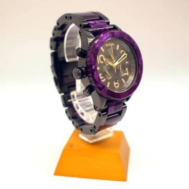 NIXON(ニクソン)のNIXON パープル 腕時計 メンズの時計(腕時計(アナログ))の商品写真