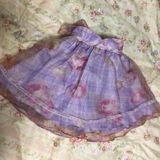 リズリサ(LIZ LISA)のLIZ LISA 花柄 スカート オーガンジー(ひざ丈スカート)