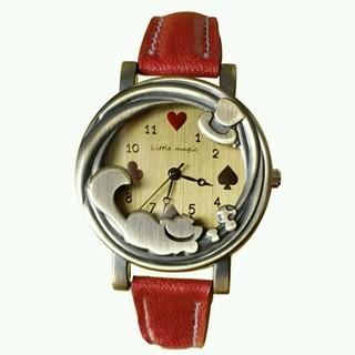 可愛い!アリス チェシャ猫腕時計(腕時計)
