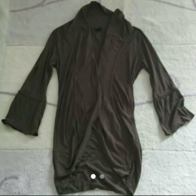 まだ肌寒い夜に❇形がおしゃれなブラウンの羽織❤︎トップス❇ レディースのトップス(シャツ/ブラウス(長袖/七分))の商品写真