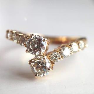ヒョウトキ様専用 K18 ダイヤモンド 0.94カラット 指輪(リング(指輪))