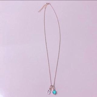 アクセサリーズブラッサム(Accessories Blossom)のBLOSSOM ネックレス ブルー S(ネックレス)
