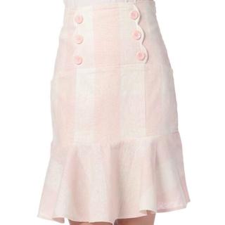 リズリサ(LIZ LISA)のギンガムチェック膝丈スカート(ひざ丈スカート)