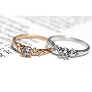 ヨンドシー(4℃)のCZダイヤモンド リング 指輪 シルバー(リング(指輪))