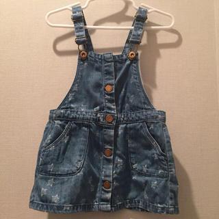 ザラキッズ(ZARA KIDS)のzara baby デニムジャンパースカート サロペット サイズ98(ワンピース)