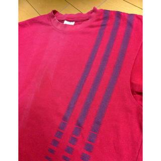 アディダス(adidas)のadidas3ラインレッドコットンT(Tシャツ/カットソー(半袖/袖なし))