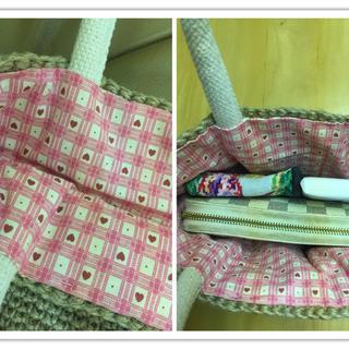 麻紐バッグ ハンドメイドのファッション小物(バッグ)の商品写真