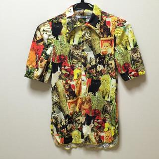 アチャチュムムチャチャ(AHCAHCUM.muchacha)の【最終値下げ】むちゃちゃ あちゃちゅむ 半そでシャツ 猫いっぱい 大人サイズ(シャツ/ブラウス(半袖/袖なし))