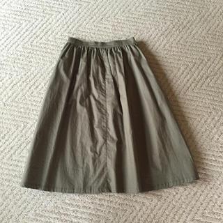 ヴィス(ViS)のカーキスカート(ひざ丈スカート)