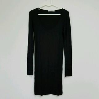 ルシェルブルー(LE CIEL BLEU)のルシェルブルー購♥ロンT 黒 38(Tシャツ(長袖/七分))