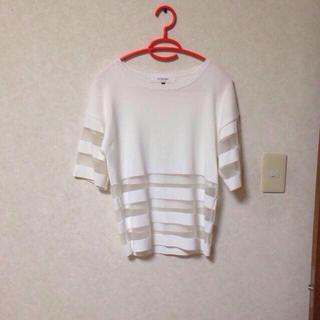 ルシェルブルー(LE CIEL BLEU)のルシェル シースルーサマーニット(Tシャツ(半袖/袖なし))