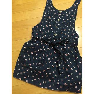 ハニーズ(HONEYS)のサロペットスカート 紺に可愛い小花模様(その他)