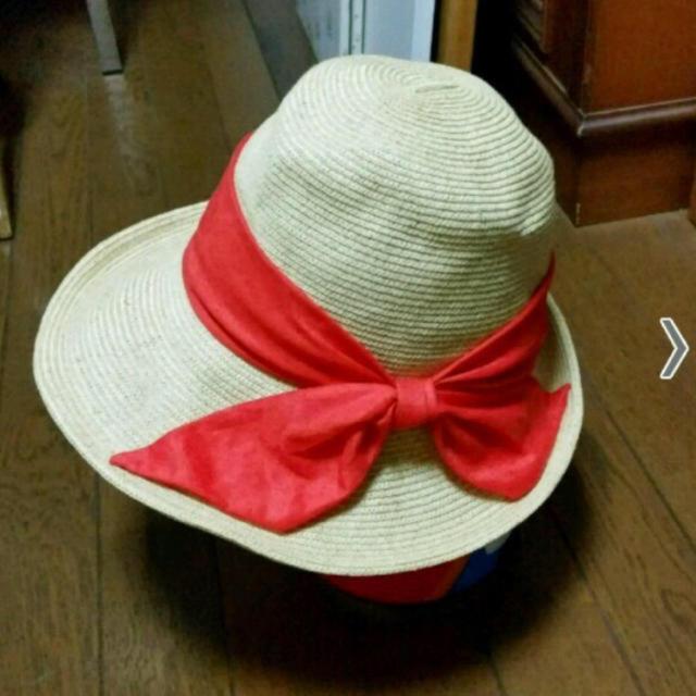 CA4LA(カシラ)のカシラストローハット!オレンジのリボンが可愛い☀︎ レディースの帽子(麦わら帽子/ストローハット)の商品写真