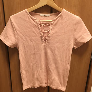 スライ(SLY)のSLY ピンクトップス(Tシャツ(半袖/袖なし))