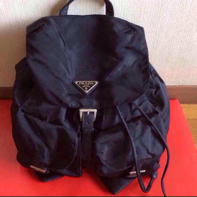 PRADA(プラダ)の正規品プラダ黒リュック レディースのバッグ(リュック/バックパック)の商品写真