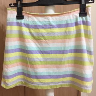 ココボンゴ(COCOBONGO)のcoco Bongo ミニ スカート カラフル パステルカラー ココボンゴ(ミニスカート)
