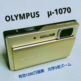 オリンパス(OLYMPUS)の値下げ❗OLYMPUS【μ-1070】ゴールド(コンパクトデジタルカメラ)