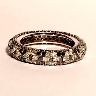 ブラックダイヤモンド フル パヴェリング 9号(リング(指輪))
