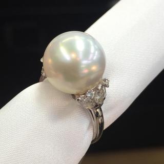 ミキモト(MIKIMOTO)の超〜美品❣️ミキモト 南洋パール&ダイヤモンドリング(リング(指輪))