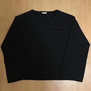 ジーユー(GU)のGU  袖切り込みVネック長袖Tシャツ(Tシャツ(長袖/七分))