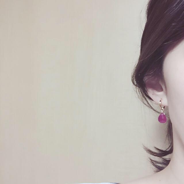 Chaoz7様 2点 14kgfピアス ピンクジェード♡イエロージェード ハンドメイドのアクセサリー(イヤリング)の商品写真