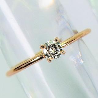 ☆K18ピンクゴールド ダイヤモンド ピンキー リング[720-1](リング(指輪))