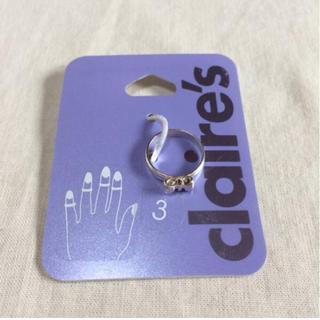 クレアーズ(claire's)の新品 claire's ファランジリング リボン シルバー ピンキーリング 3号(リング(指輪))