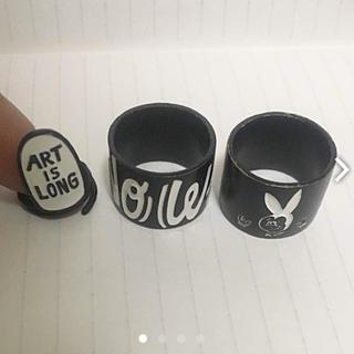 ギズモビーズ(Gizmobies)のchocomoo リング ブラック セット(リング(指輪))
