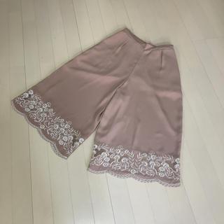 ロペピクニック(Rope' Picnic)の♡今季物新品♡ロペピクニック 裾刺繍ガウチョパンツ(その他)