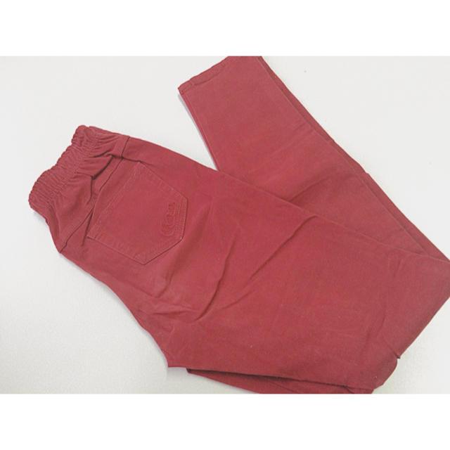 赤 パンツ レディースのパンツ(カジュアルパンツ)の商品写真