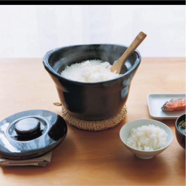 MUJI (無印良品)(ムジルシリョウヒン)の無印 土釜おこげ 手軽に炊飯できる土鍋 スマホ/家電/カメラの調理家電(炊飯器)の商品写真