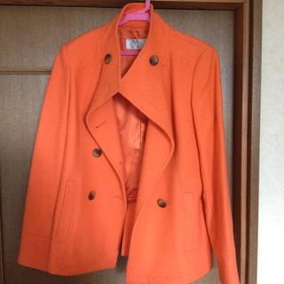 ザジ(ZAZIE)のオレンジコート(ピーコート)