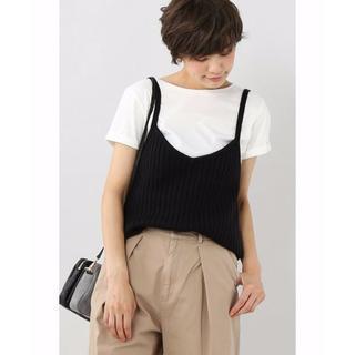イエナスローブ(IENA SLOBE)の16年物 SLOBE IENA ニットキャミ × Tシャツ セット(アンサンブル)
