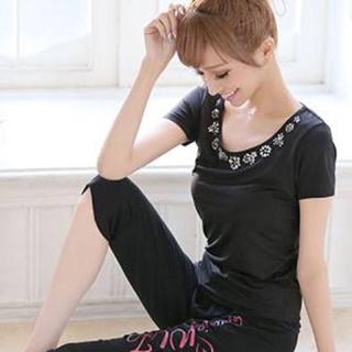 エミリアウィズ(EmiriaWiz)のTシャツ2枚&ヨガパンツ 三点セット(ヨガ)