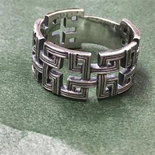 六弥太格子シルバーリング 和風 和柄 紋様 模様(リング(指輪))