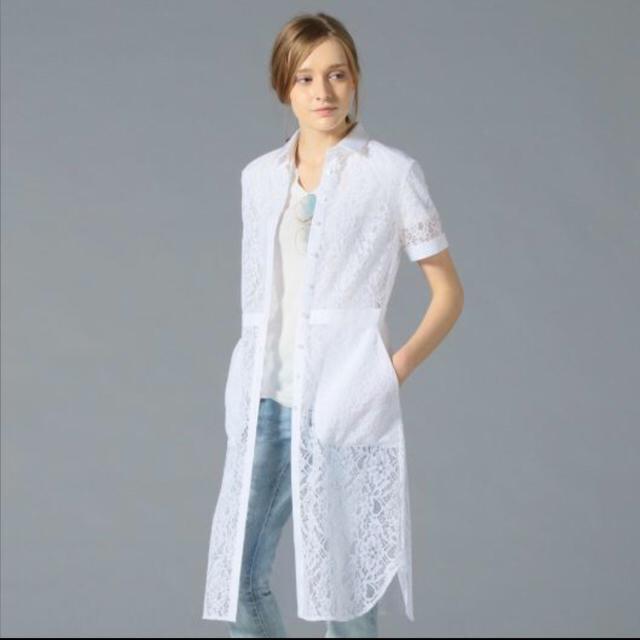 LOVELESS(ラブレス)のラブレス レースホワイト ワンピ 羽織り レディースのトップス(シャツ/ブラウス(半袖/袖なし))の商品写真