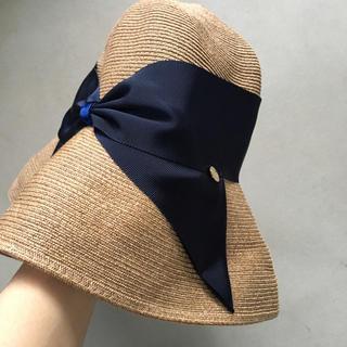 エストネーション(ESTNATION)のアシーナ ニューヨーク Risako 帽子 Tanネイビー(麦わら帽子/ストローハット)