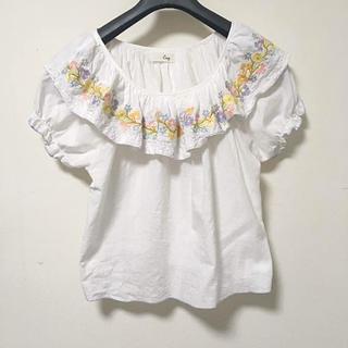 クリスプ(Crisp)のcrisp 刺繍パフスリーブトップス(Tシャツ(半袖/袖なし))