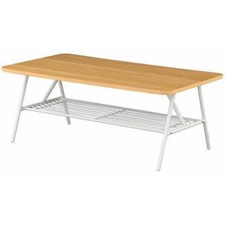 【送料無料】 S_125四角形の木目調棚付テーブル センターテーブル NA(ローテーブル)