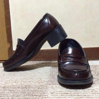 HARUTA ヒール付ローファー22.5(ローファー/革靴)