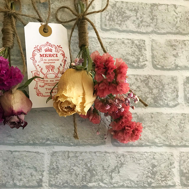 ミニスワッグ5点セット☆ミニミニ付き ハンドメイドのフラワー/ガーデン(ドライフラワー)の商品写真