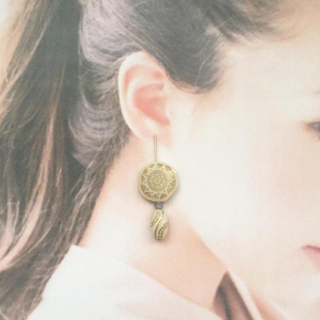 大人アンティーク♡ブルーオパール ハンドメイドのアクセサリー(ピアス)の商品写真