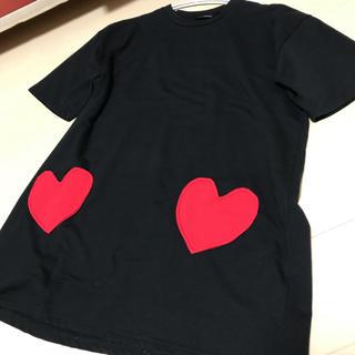 ファンキーフルーツ(FUNKY FRUIT)のFUNKY FRUIT ハートポケットビッグTシャツ(Tシャツ(半袖/袖なし))