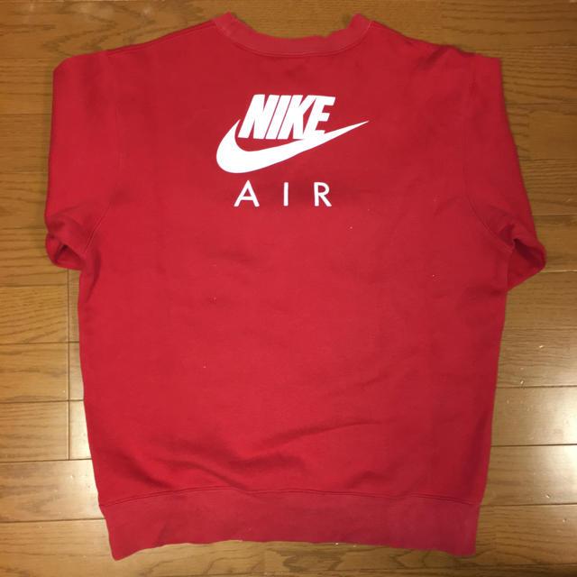 NIKE(ナイキ)のNIKE AIR トレーナー 赤 メンズのトップス(スウェット)の商品写真