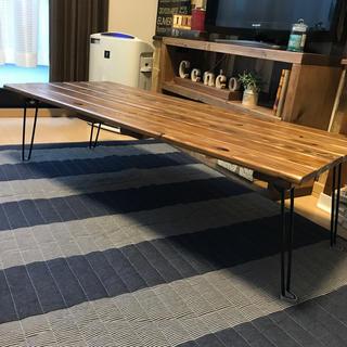 ブラック脚【横幅120cm】センターテーブル(ローテーブル)