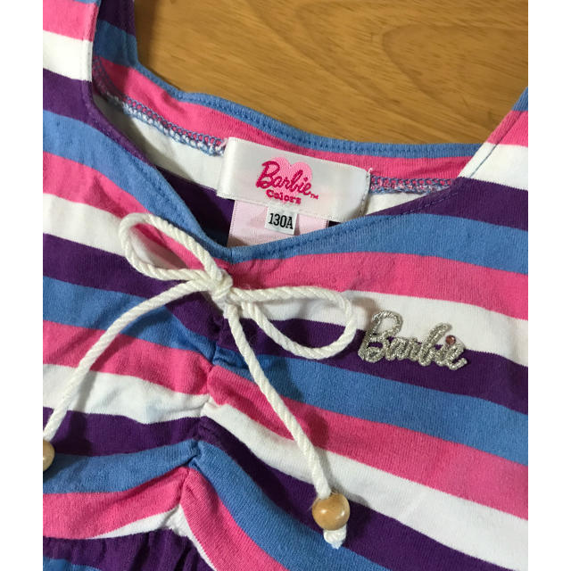 Barbie(バービー)のバービー ノースリワンピース130 キッズ/ベビー/マタニティのキッズ服女の子用(90cm~)(ワンピース)の商品写真